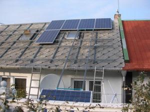 FV elektrárna Most výkon 5,04 kW - fáze realizace